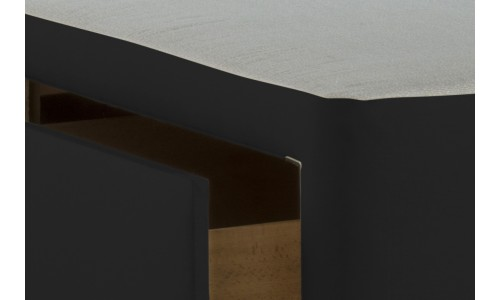 6ft Zip and Link 4 Drawer Base Black Poly