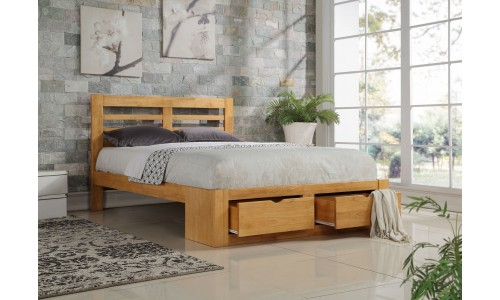 Bretton Oak 2 Drawer Bed Frame