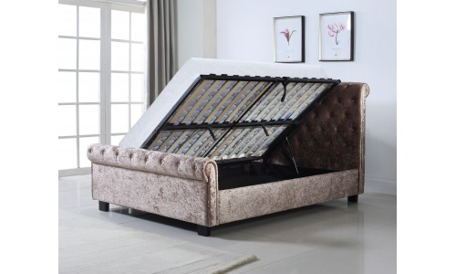 Whitford Crushed Mink Ottoman Bed